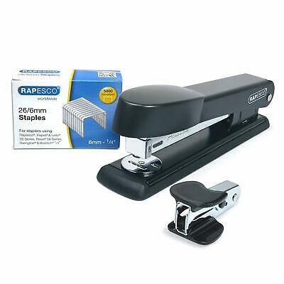 Rapesco 1471 Marlin Stapler with Staple Remover and 26/6 mm Staples B/5000, Blk