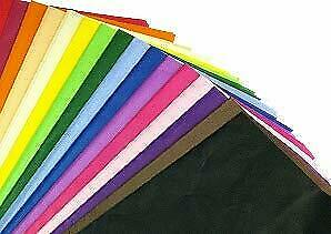 "100 x Multi Coloured Tissue Paper / Gift Wrap / Wrapping Paper Sheets (20"" x"
