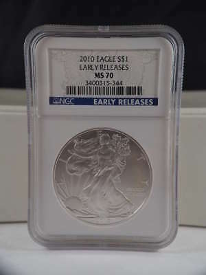 2010 American Silver Eagle Early Release MS 70 NGC SKU 0182G