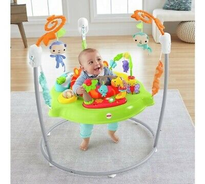 NEW Fisher-Price CHM91 Roaring Rainforest Jumperoo New-Born Baby Activity Centre