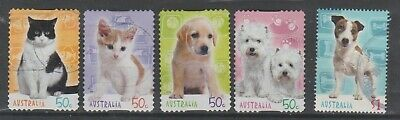 Australia.  2004  50c dogs and cats (5).  Good to fine used.