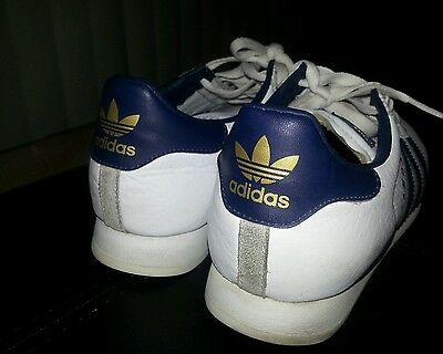 ADIDAS ORIGINALS SAMOA Size 6 J Big Kids White Running Shoes