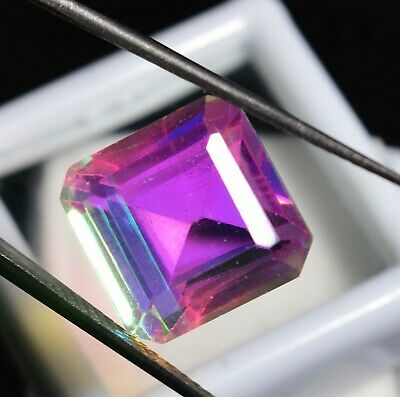 11.35 Ct Natural Rainbow Color Mystic Quarz Zertifizierter Edelstein ZERTIFIZIER