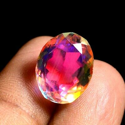 9.85 Ct Natural Rainbow Color Mystic Quarz Zertifizierter Edelstein ZERTIFIZIER