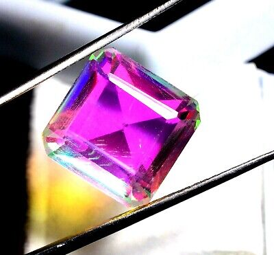 12.20 Ct Natural Rainbow Color Mystic Quarz Zertifizierter Edelstein ZERTIFIZIER
