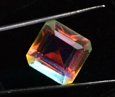 9.50 Ct Natural Rainbow Color Mystic Quarz Zertifizierter Edelstein ZERTIFIZIER