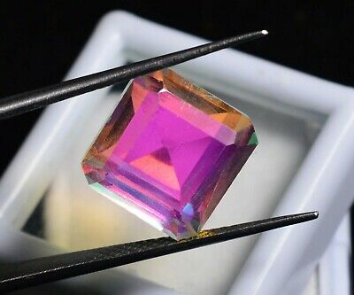 10.40 Ct Natural Rainbow Color Mystic Quarz Zertifizierter Edelstein ZERTIFIZIER