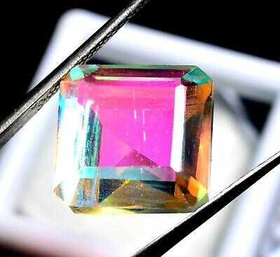 12.83 Ct Natural Rainbow Color Mystic Quarz Zertifizierter Edelstein ZERTIFIZIER