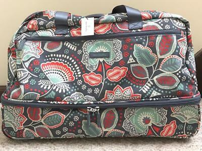 534fcc6bcc NWT Vera Bradley ~NOMADIC FLORAL~ LIGHTEN UP WHEELED CARRY ON LUGGAGE CARRY  ON