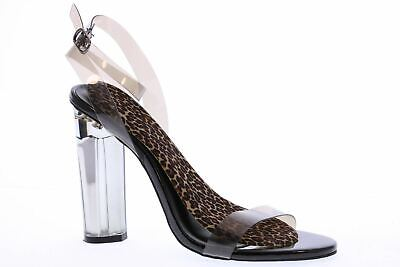 65fa7ddc891 New Women Wild Diva Mono-07 Lucite Open Toe Ankle Strap Chunky Heel Sandal