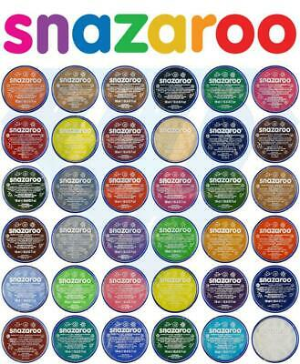 NEW ORIGINAL SNAZAROO 18ml FACE PAINTS FANCY DRESS THEATRE BODY MAKE UP