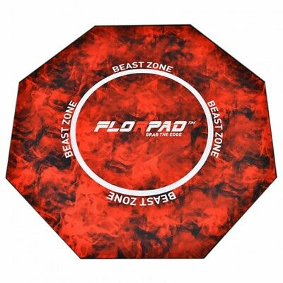 FlorPad Beast Zone Gamer-/eSports Protective Floor Mat - Red Soft Core