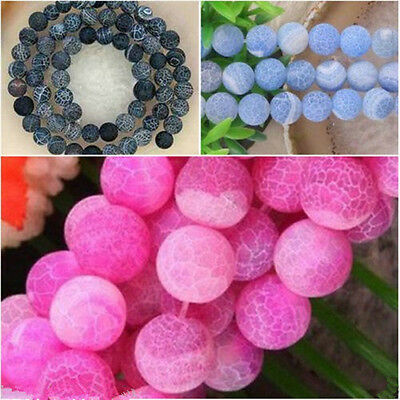 """Wholesale ! Multicolor Frost Dream Fire Dragon Veins Agate Loose Beads Gems 14"""""""