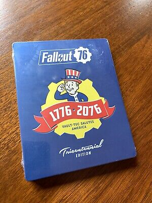 NEW Unopened Fallout 76 Tricentennial Steelbook w/Game - PS4