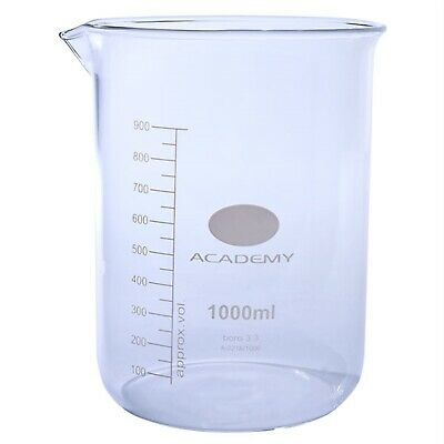 Academy Low Form Beakers 1000ml Pack 6
