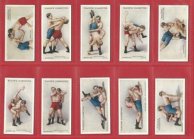 Cigarette Card Set - John Player & Sons - Wrestling & Ju-Jitsu - 1925 Set (Lg09)