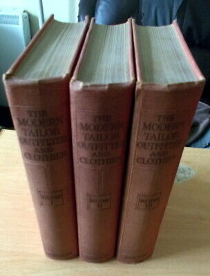 BRIDGLAND - THE MODERN TAILOR, OUTFITTER AND CLOTHIER - 3 VOLS - c1928 - VG+