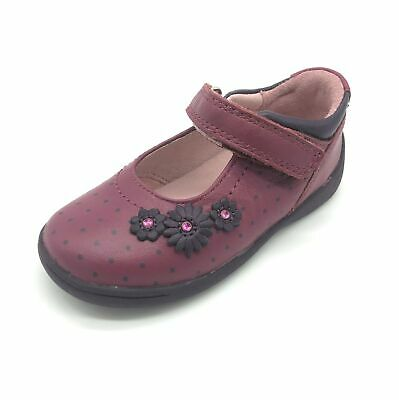 Start-rite Super Soft Daisy Girls' Shoes Berry Leather 50% OFF RRP