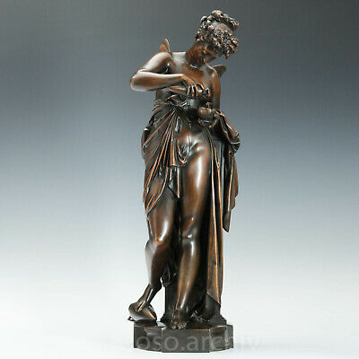 Albert E. Carrier-Belleuse (1824-1887) Psyche ca. 1870 Bronze Skulptur