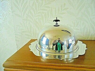 Large Vintage Silver Plated Muffin Dish