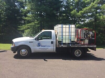 2003 Ford F-350  Ford 2003 F350 Aluminum Flat bed Pressure Washing Truck