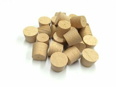 """3/8"""" Steamed Beech Tapered Wooden Plugs 100pcs"""