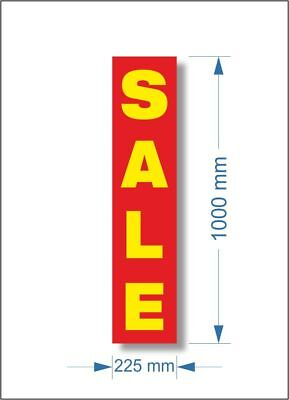 3 x Shop RED SALE POSTER, window banner poster