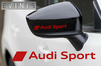 AUDI SPORT  default RED VINYL SYMBOL MIRROR DECALS STICKERS GRAPHICS x2