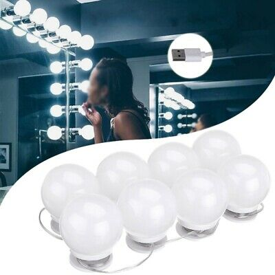 DC5V USB Hollywood Style LED Mirror Makeup Party Light with 8 Dimmable White Bul