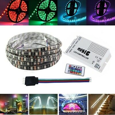 5M RGB SMD5050 Waterproof LED Flexible Strip Light + Music Controller + Connecto