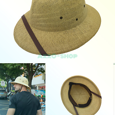 3992d49a9ab38 kainozoic Outdoor Safari Straw Pith Helmet Costume Hat Bike Helmet Natural