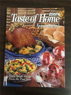 Taste Of Home 1998 Annual Recipes Cookbook Hardcover 322 Pages 580 Recipes
