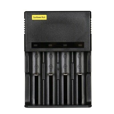 Sunflower Rich 889 LED Indicator Light USB Port Rapid Smart Charger For 18650 26