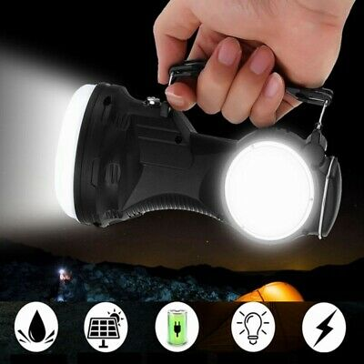3W SMD2835 COB Waterproof Dimming Solar Flashlight Rechargeable Portable Camping