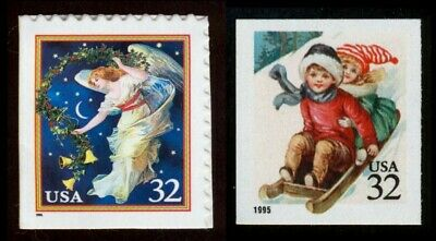 #3012 & 3013 32c Christmas 1995, Mint **ANY 4=FREE SHIPPING**