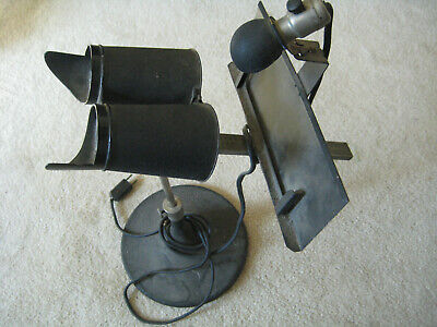 OPTICIAN ORTHOSCOPE FOR use w/ stereoscope cards general practitioner 1930's