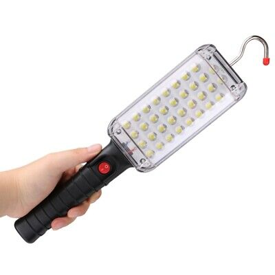 Portable 34 LED Flashlight Magnetic Torch USB Rechargeable Work Light Hanging Ho