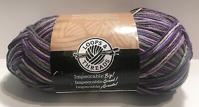 Loops & Threads Big Skein Yarn FRESH LILAC # 04004 Acrylic 4 ply 10.5 oz