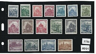 #3786    MNH Stamp set / Regular Postage / German Occupation / 1940s Third Reich