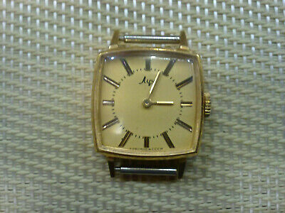 gold plated Vintage Old USSR made women Wrist Watch  LUCH