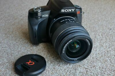 Sony Alpha DSLR-A230 10.2MP Digitalkamera - Schwarz (Kit mit DT 18-55mm)