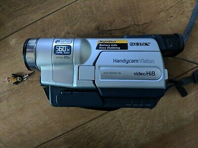 Sony DCR-TRV218E Camcorder - Black/Silver with night shot with great camera bag