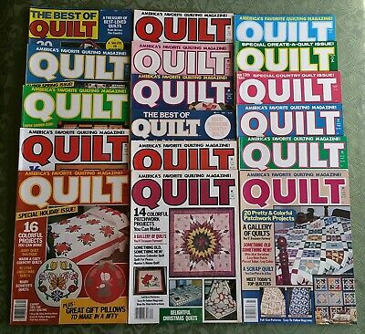 FREE SHIP Lot of 17 Vintage QUILT~Back Issue Magazines~Quilting Sewing Crafting