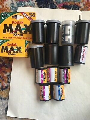 14 Random Lot of Expired 35mm Film Kodak Polaroid MAX Zoom 800 200 400 Advantix