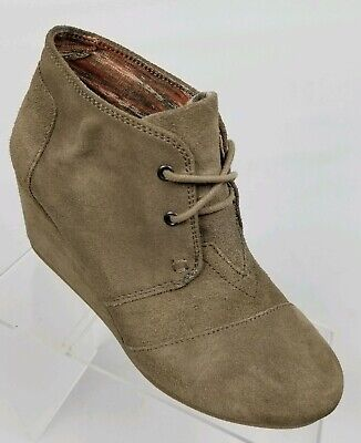 bd2cb5c212e TOMS SUEDE Lace Up Embroidered Gray Ankle Booties Size 7.5 -  39.00 ...