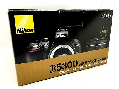 New NIKON D5300 DSLR Camera with AF-P 18-55mm f3.5-5.6 VR Lens - Black