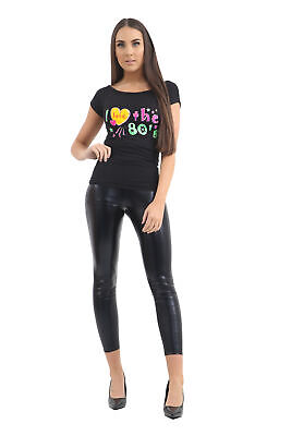 New I Love The 80's 1980's Ladies T-Shirt Fancy Dress Retro Outfit Hen Party Top