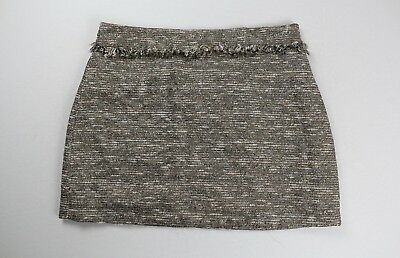 fec067f6 ZARA BASIC COLLECTION Gold Tweed Mini Skirt Size US Large - $39.99 ...