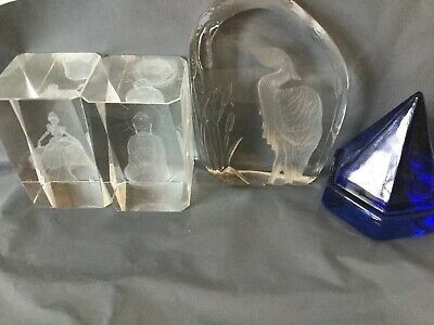 Bundle Of 4 Glass Papper Weights