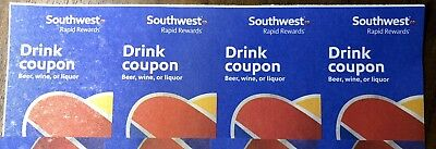 (Four) Southwest Airlines Drink Coupons Drink Exp: 2/29/2020 Fast Shipping